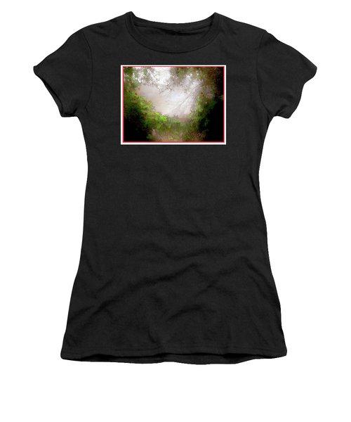 Women's T-Shirt (Junior Cut) featuring the photograph Holly Heart by Bonnie Willis
