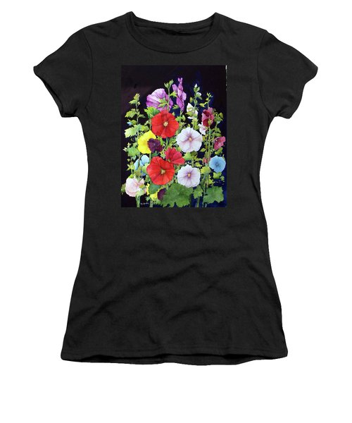 Hollyhocks Women's T-Shirt