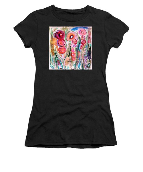 Hollyhocks Of The Garden Women's T-Shirt (Athletic Fit)
