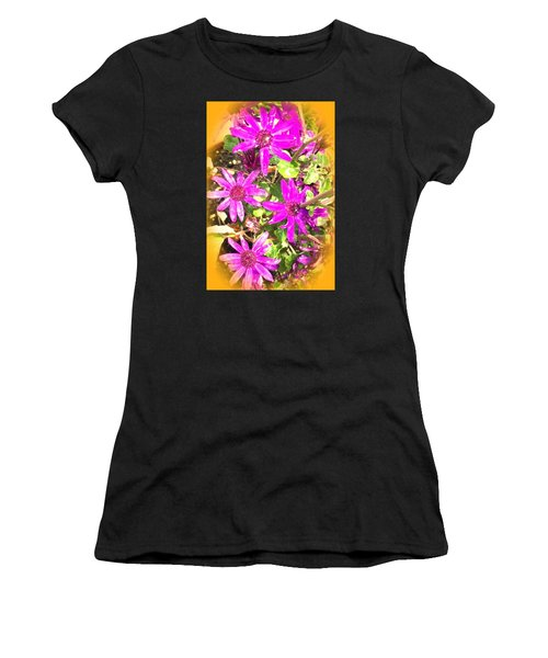 Hollywood Flower Stars Women's T-Shirt (Athletic Fit)