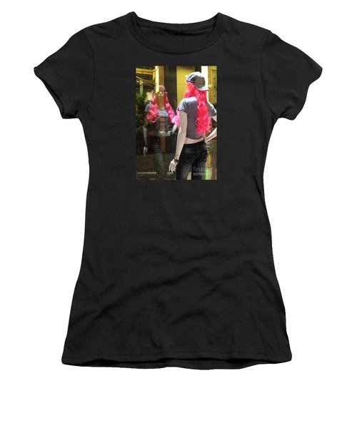Hollywood Pink Hair In Window Women's T-Shirt