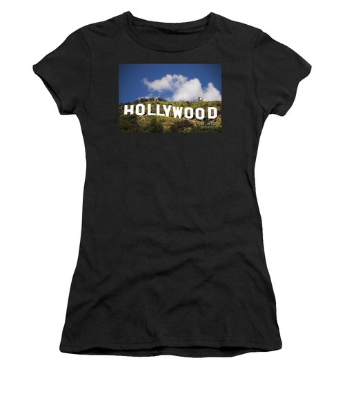 Women's T-Shirt (Junior Cut) featuring the photograph Hollywood Sign by Anthony Citro