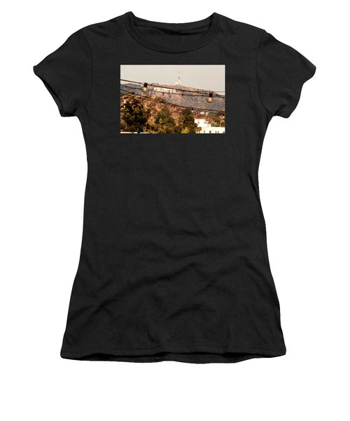 Women's T-Shirt (Junior Cut) featuring the photograph Hollywood Sign On The Hill 3 by Micah May