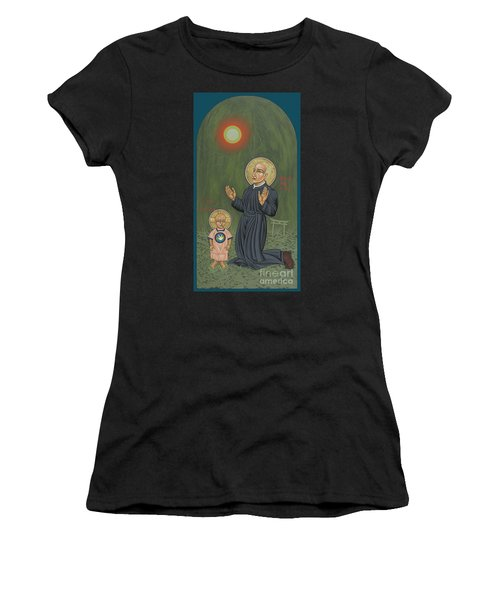 Women's T-Shirt featuring the painting Holy Father Pedro Arrupe, Sj In Hiroshima With The Christ Child 293 by William Hart McNichols