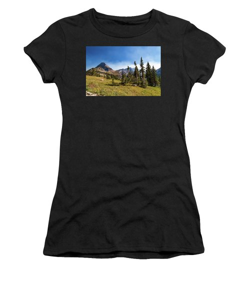 Women's T-Shirt (Athletic Fit) featuring the photograph Homage To The Mountains  by Lon Dittrick