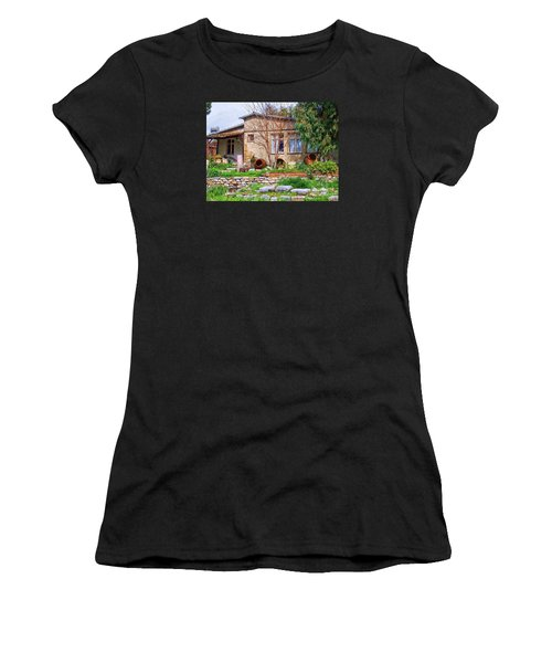 Women's T-Shirt (Junior Cut) featuring the photograph Home In Greece by Roberta Byram