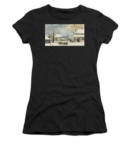 Home To Home To Thanksgiving, 1867 Women's T-Shirt