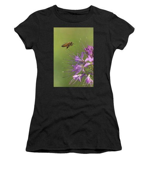 Honey Bee At Work Women's T-Shirt (Athletic Fit)