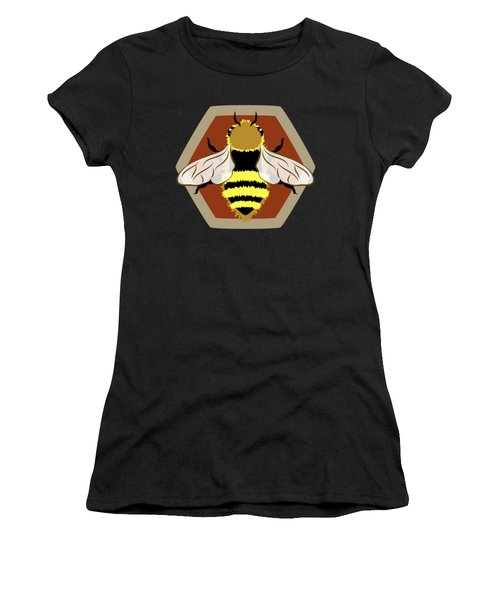 Women's T-Shirt featuring the digital art Honey Bee Graphic by MM Anderson