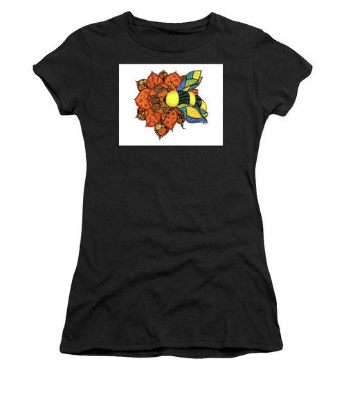 Honeybee On A Flower Women's T-Shirt