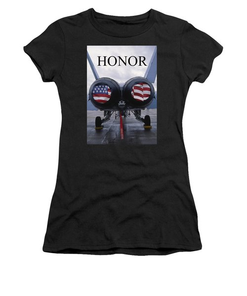 Honor The Flag Women's T-Shirt (Athletic Fit)