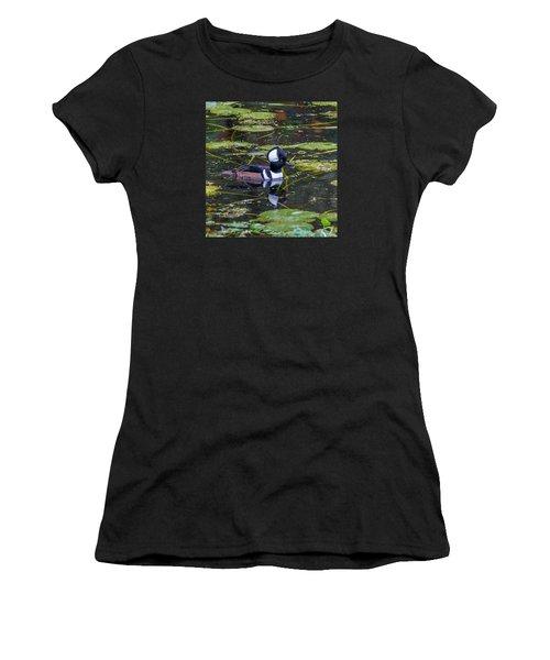 Hooded Merganser Women's T-Shirt (Athletic Fit)