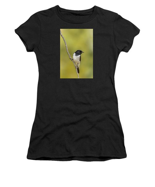 Hooded Robin Women's T-Shirt (Junior Cut) by Racheal  Christian