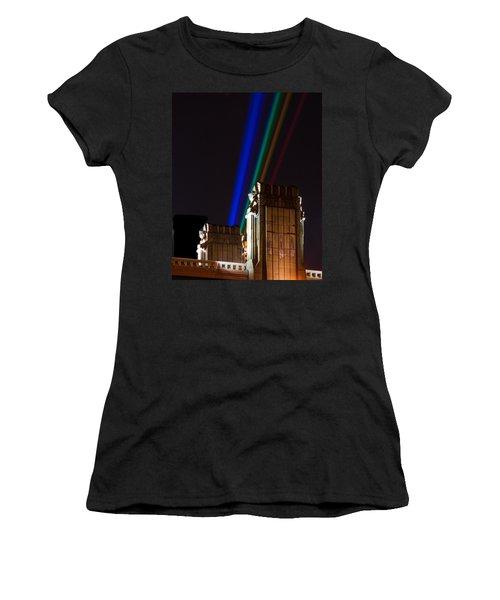 Hope Memorial Bridge, Aha Lights Women's T-Shirt