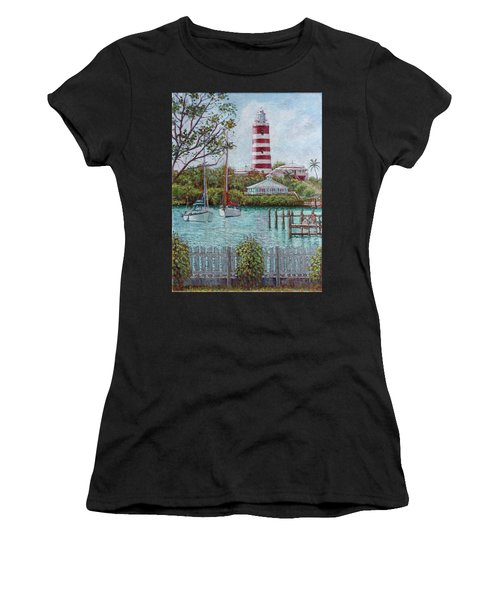 Hope Town Lighthouse Women's T-Shirt (Athletic Fit)