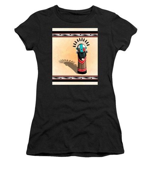 Hopi Sun Face Kachina Women's T-Shirt (Junior Cut) by John Wills