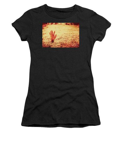 Horror Hand Of A Zombie Awakening Women's T-Shirt
