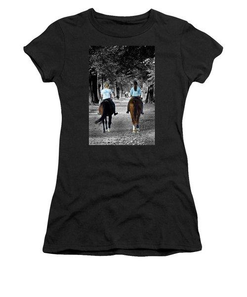 Horsback Rider In Hellbrunn Women's T-Shirt
