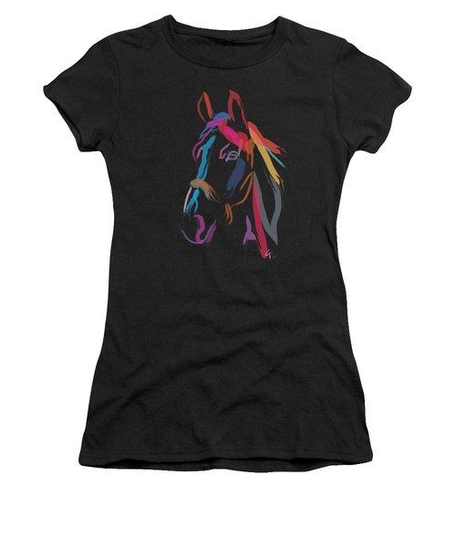 Horse-colour Me Beautiful Women's T-Shirt (Athletic Fit)