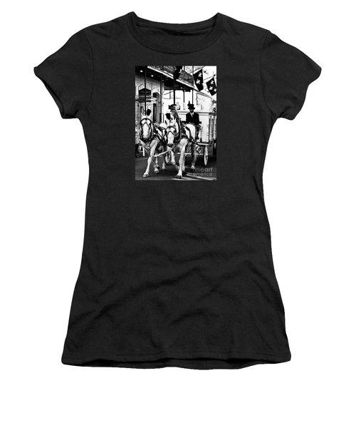 Horse Drawn Funeral Carriage Women's T-Shirt (Junior Cut) by Kathleen K Parker