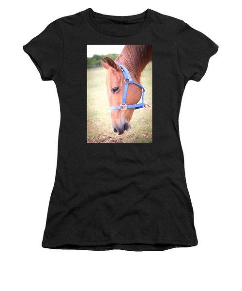 Horse Eating Grass Women's T-Shirt