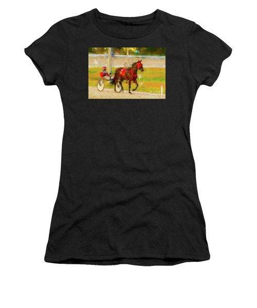 Horse, Harness And Jockey Women's T-Shirt