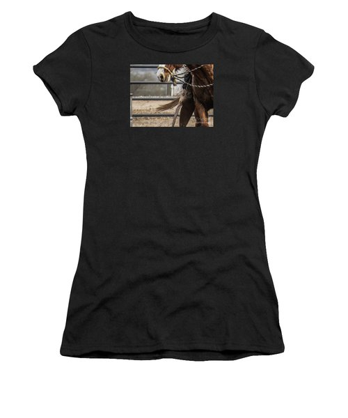 Horse In Hackamore Women's T-Shirt (Athletic Fit)