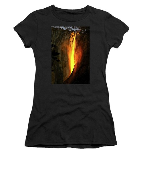 Horse Tail Fall Aglow Women's T-Shirt (Athletic Fit)