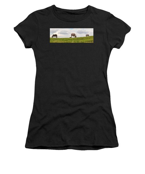 Horses And Clouds Women's T-Shirt