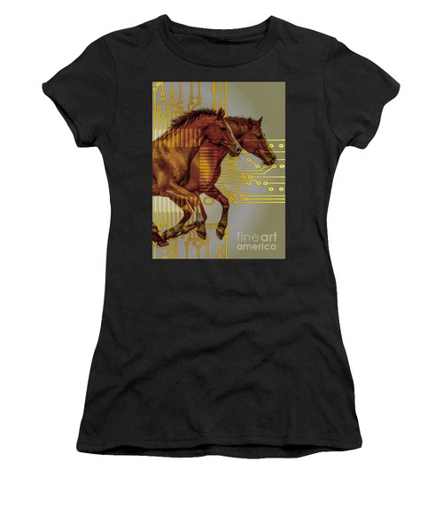 The Sound Of The Horses. Women's T-Shirt (Athletic Fit)