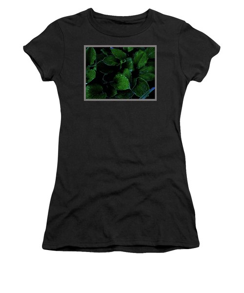 Hostas After The Rain II Women's T-Shirt (Athletic Fit)