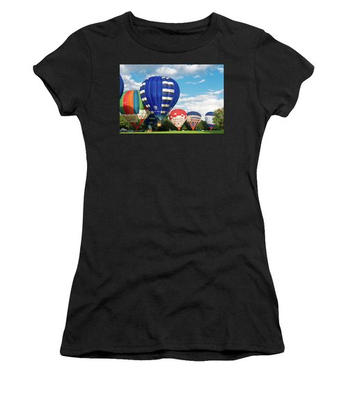 Women's T-Shirt (Junior Cut) featuring the photograph Hot Air Balloons by Hans Engbers