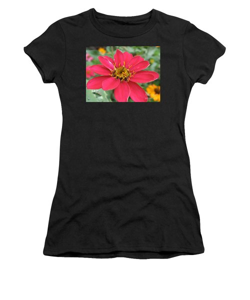 Hot Pink Flower Women's T-Shirt (Athletic Fit)