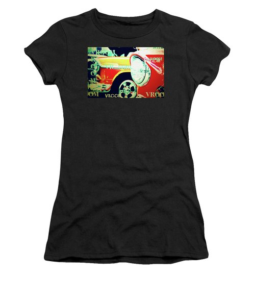 Hot Rods Go Vroom Vroom Women's T-Shirt (Athletic Fit)