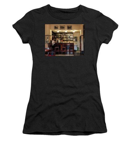 Women's T-Shirt (Junior Cut) featuring the photograph Hotel Presidente Bar Havana Cuba by Charles Harden