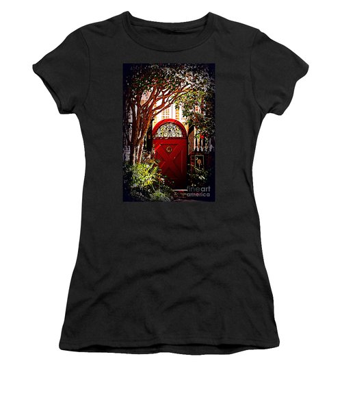 House Door 5 In Charleston Sc  Women's T-Shirt