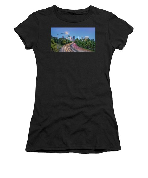 Women's T-Shirt featuring the photograph Houston Evening Cityscape by James Woody