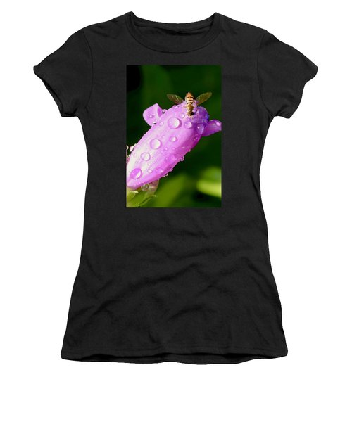 Hoverfly On Pink Flower Women's T-Shirt