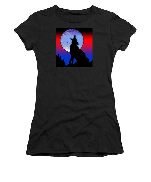 Howling Wolf Women's T-Shirt (Athletic Fit)