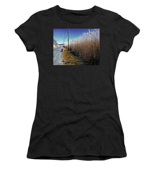Hudson River Winter Walk Women's T-Shirt (Athletic Fit)