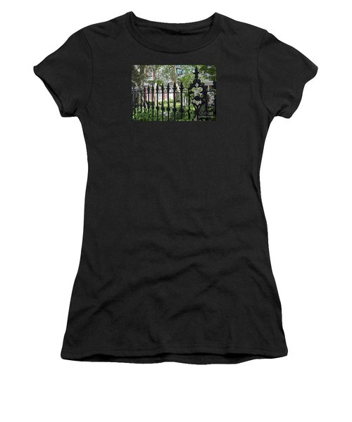 Women's T-Shirt (Junior Cut) featuring the photograph Huguenot Church Cemetery by Gina Savage