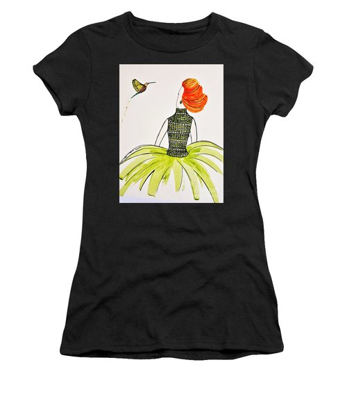 Hummingbird Admirer Women's T-Shirt (Athletic Fit)