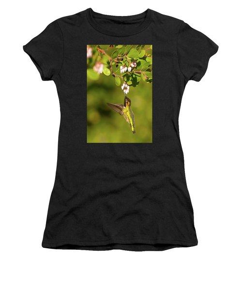 Hummingbird And Manzanita Blossom Women's T-Shirt