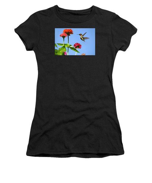 Hummingbird Happiness Women's T-Shirt (Athletic Fit)