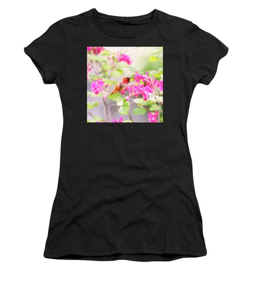 Hummingbird In Spring Women's T-Shirt