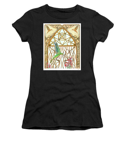 Hummingbird Sanctuary Women's T-Shirt (Athletic Fit)