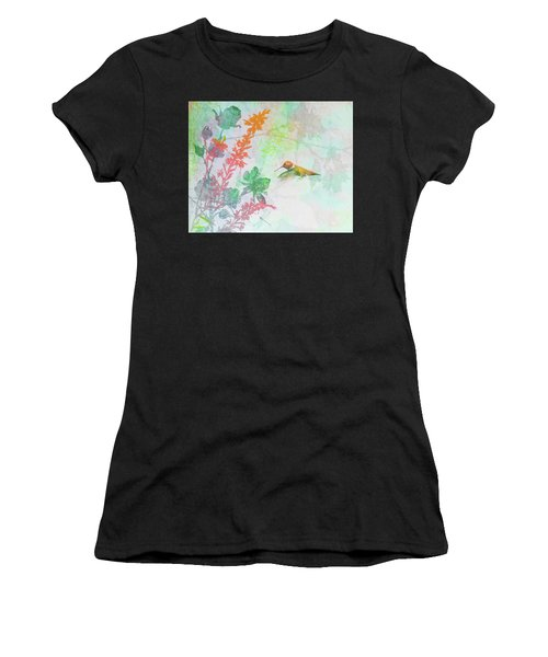 Hummingbird Summer Women's T-Shirt (Athletic Fit)