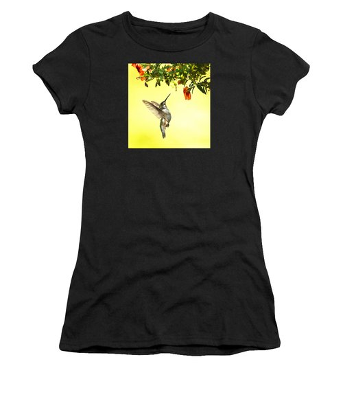 Hummingbird Under The Floral Canopy Women's T-Shirt