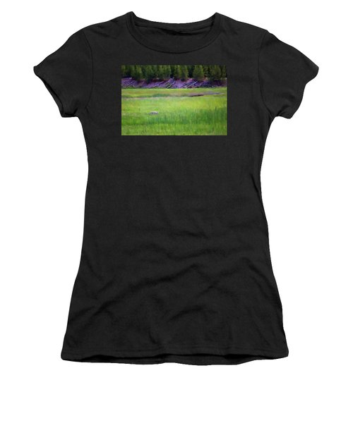 Women's T-Shirt (Athletic Fit) featuring the photograph Hunting by Sue Collura