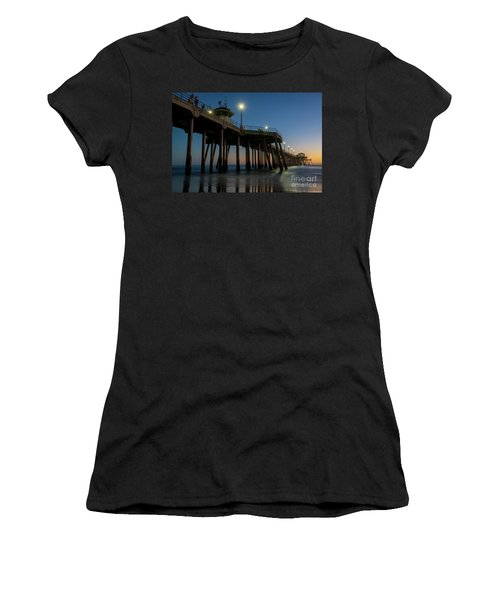 Huntington Beach Pier At Dusk Women's T-Shirt